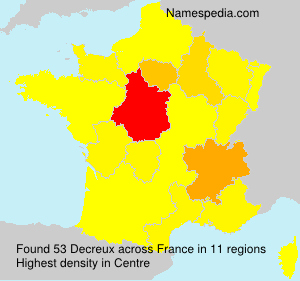 Surname Decreux in France