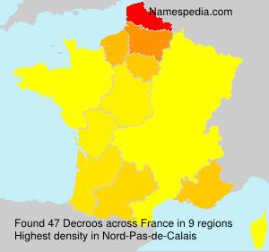 Familiennamen Decroos - France