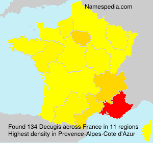 Surname Decugis in France
