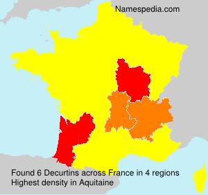 Surname Decurtins in France