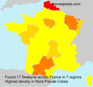 Surname Dedeyne in France