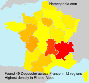 Surname Dedouche in France