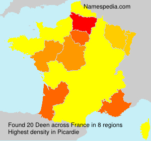 Surname Deen in France