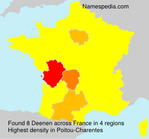 Surname Deenen in France