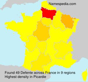 Surname Defente in France