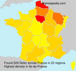 Familiennamen Defer - France