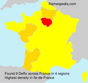 Surname Deffo in France