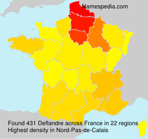 Surname Deflandre in France