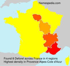 Surname Deforel in France