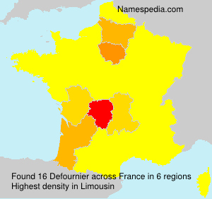 Surname Defournier in France