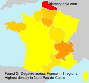 Familiennamen Degavre - France