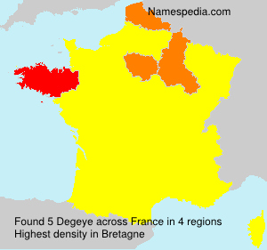 Surname Degeye in France