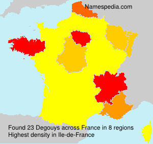Surname Degouys in France