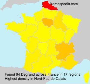 Surname Degrand in France