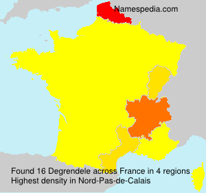 Surname Degrendele in France