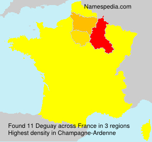 Surname Deguay in France
