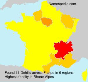 Surname Dehilis in France