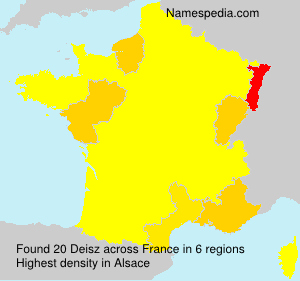 Surname Deisz in France