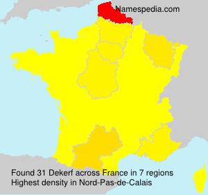 Surname Dekerf in France