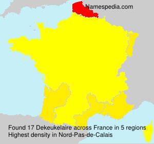 Familiennamen Dekeukelaire - France