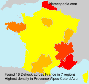 Surname Dekock in France