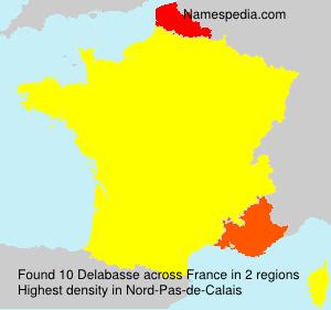 Surname Delabasse in France