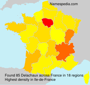 Surname Delachaux in France