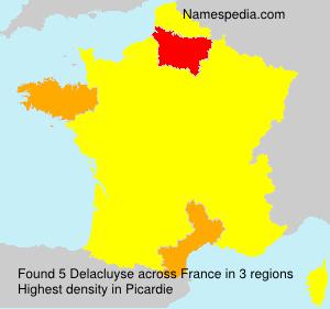 Surname Delacluyse in France