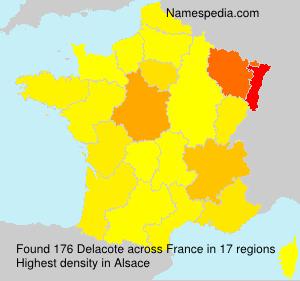Surname Delacote in France