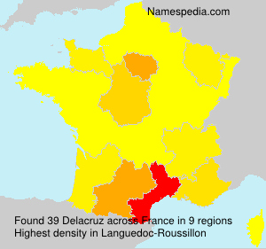 Surname Delacruz in France