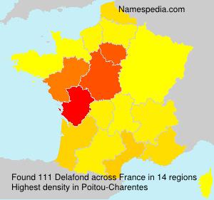 Surname Delafond in France