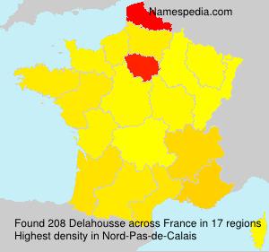 Surname Delahousse in France