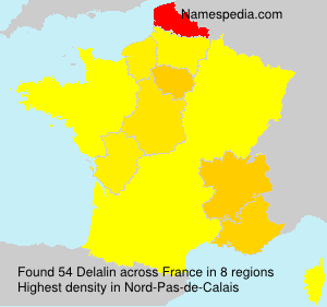 Surname Delalin in France