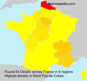 Surname Delalin in France