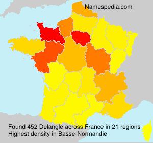 Surname Delangle in France