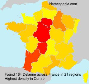 Surname Delanne in France