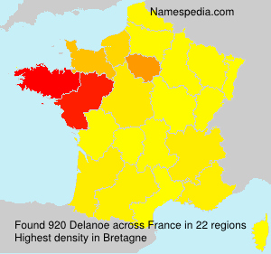 Surname Delanoe in France