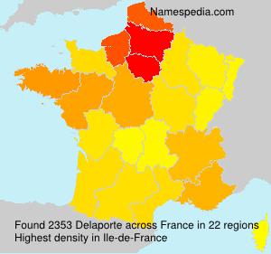 Surname Delaporte in France