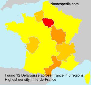 Surname Delarousse in France