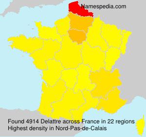 Surname Delattre in France