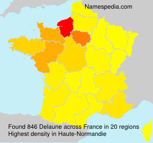 Surname Delaune in France