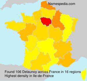 Familiennamen Delaunoy - France