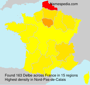 Surname Delbe in France