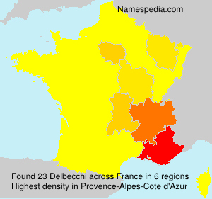 Surname Delbecchi in France