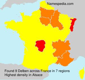 Surname Delben in France