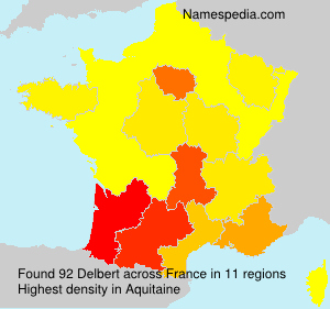 Surname Delbert in France