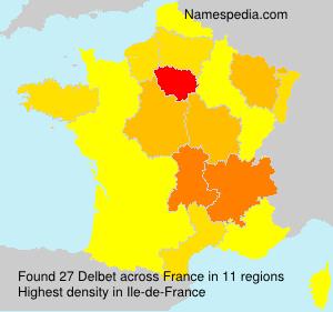 Familiennamen Delbet - France