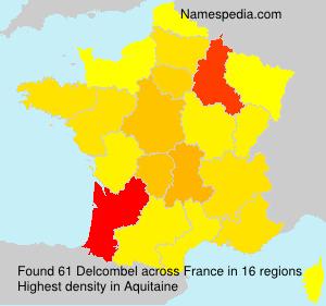 Familiennamen Delcombel - France