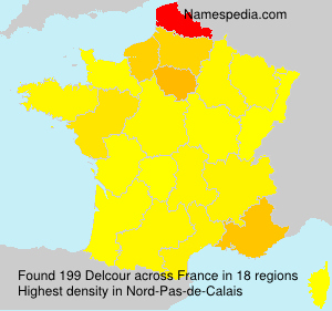 Surname Delcour in France