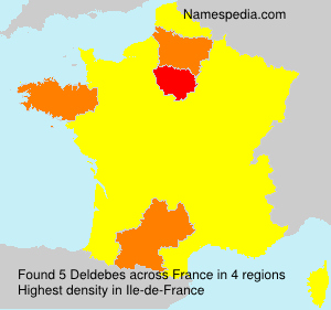 Familiennamen Deldebes - France